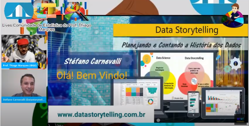 Live EsTaTiDados sobre Data Storytelling