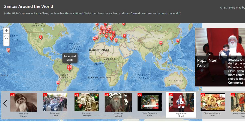 Fotos do Papai Noel pelo Mundo