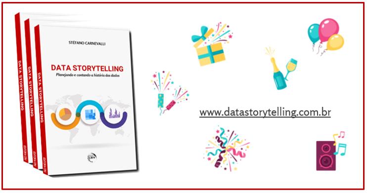 """Evento lançamento livro """"Data Storytelling..."""