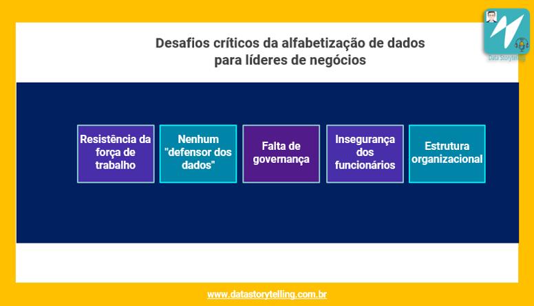 Desafios para implantação de Data Literacy na organização