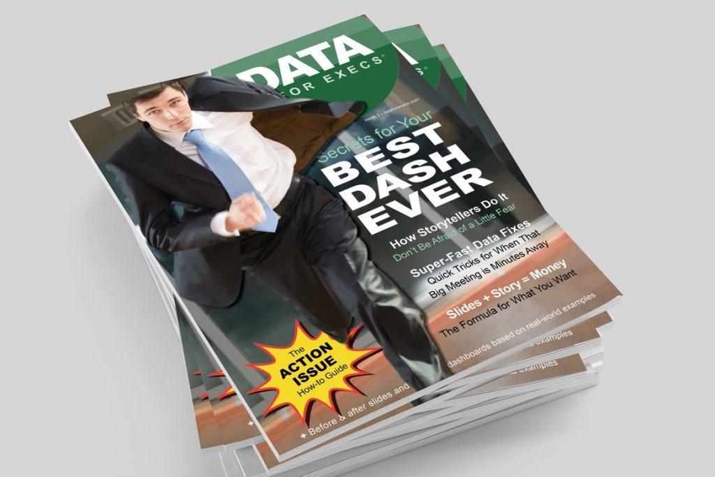 Capa da edição 3 da revista Data for Exec