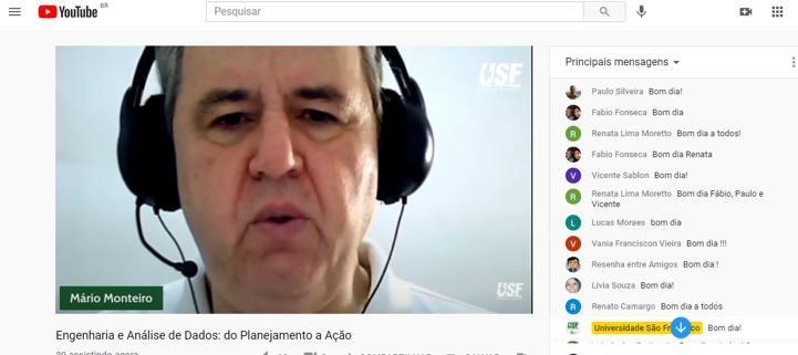 Professor Mario Monteiro - Universidade São Francisco (USF)